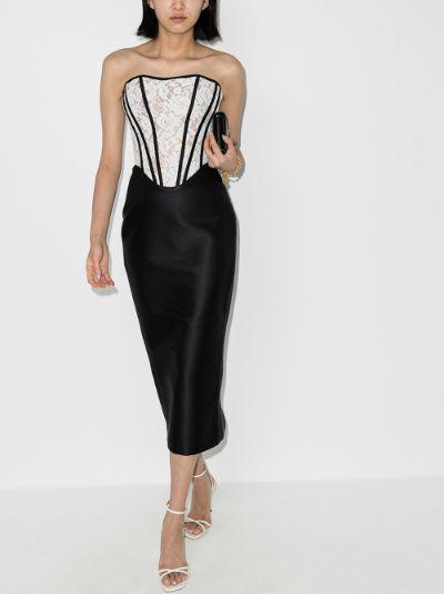 strapless corset dress