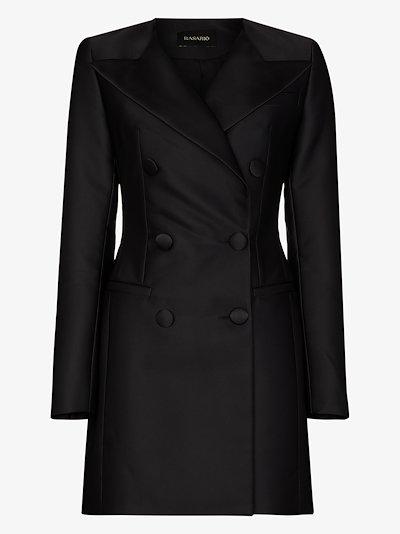 V-neck blazer mini dress