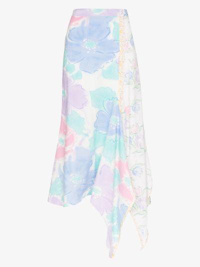 Issa floral print midi skirt
