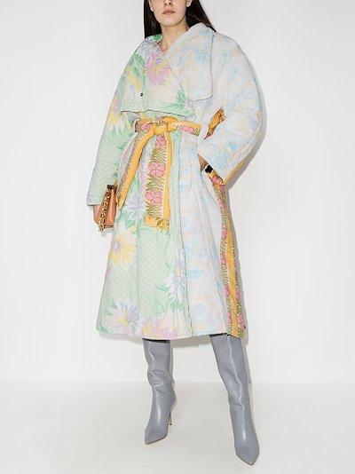 Maggan upcycled floral duvet coat