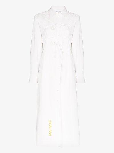 Selma cotton midi shirt dress