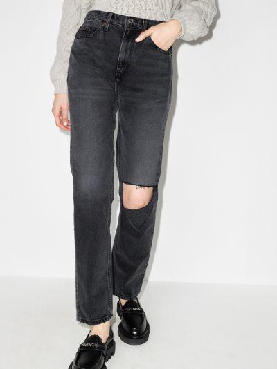 '70s high waist straight leg jeans