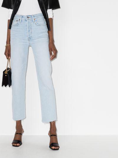 '70s raw hem cropped jeans
