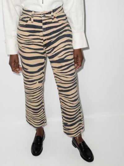 '70s zebra print jeans