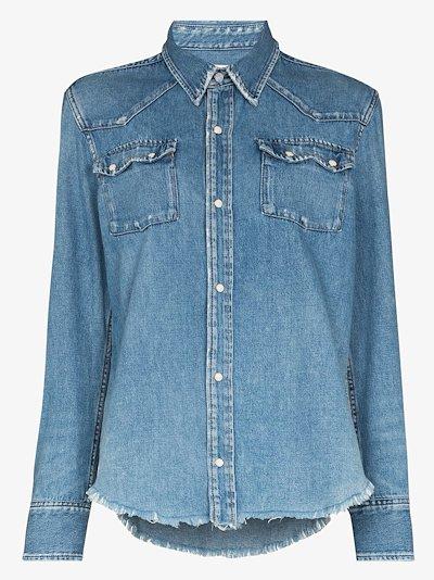Upcycled '50s western denim shirt