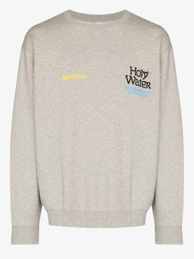 logo print cotton sweater