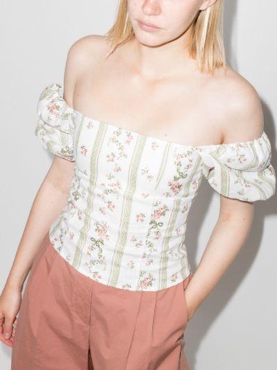 Arancini floral linen top
