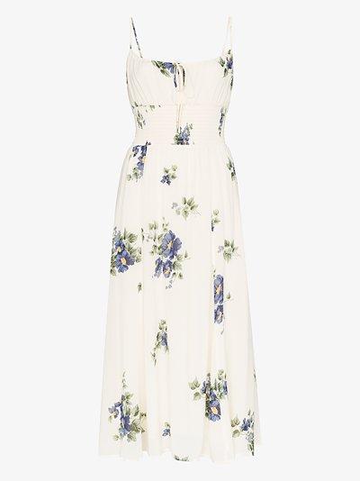 Bran floral print midi dress