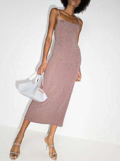 Breslin metallic knit midi dress