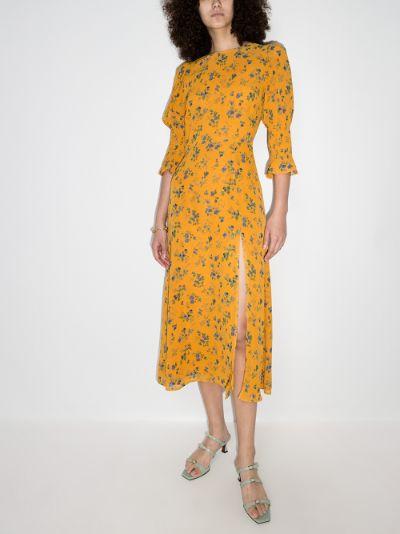 Carolena Floral Print Midi Dress