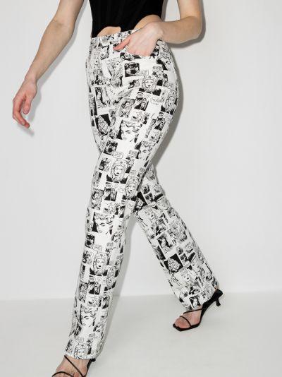 cartoon print jeans