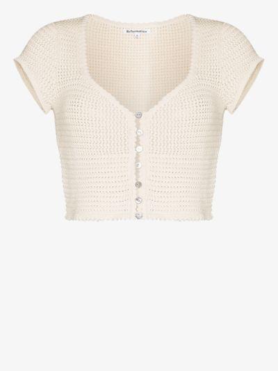 caterina crochet knit top