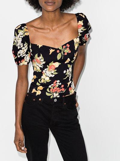 Charli floral print blouse