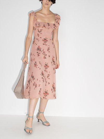 colette floral print midi dress