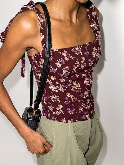 Ellora tie strap floral top