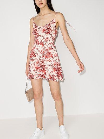 Esther floral print mini dress
