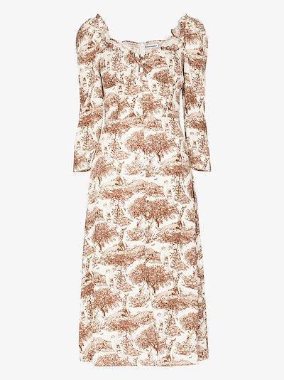 Fairway sweetheart midi dress