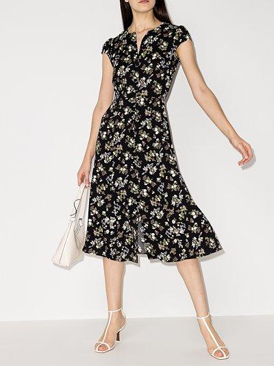 Fauna floral print midi dress