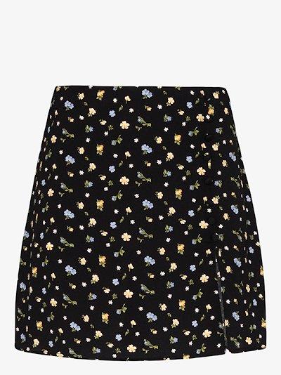 Fran floral print mini skirt