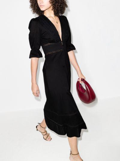 Fran lace panelled midi dress