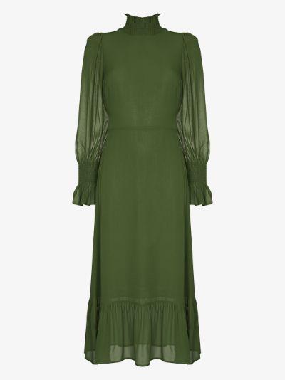 Galena High Neck Midi Dress