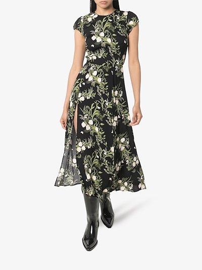 Gavin floral print slit dress