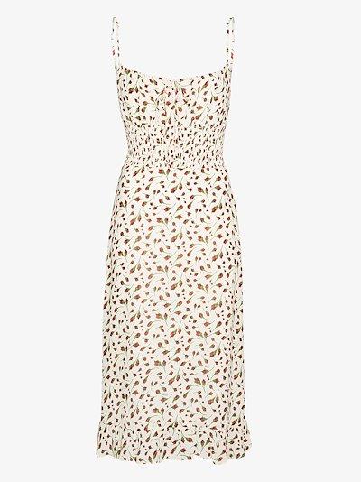 Genie floral midi dress