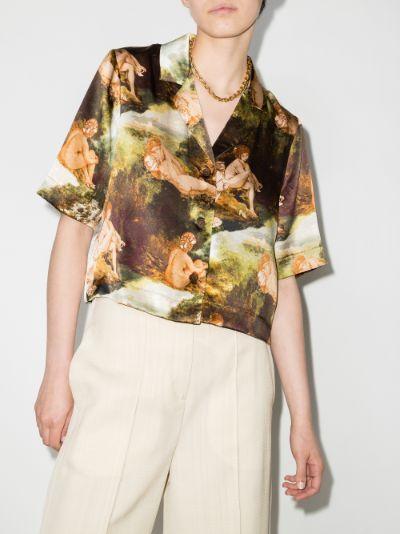 hanson printed silk shirt