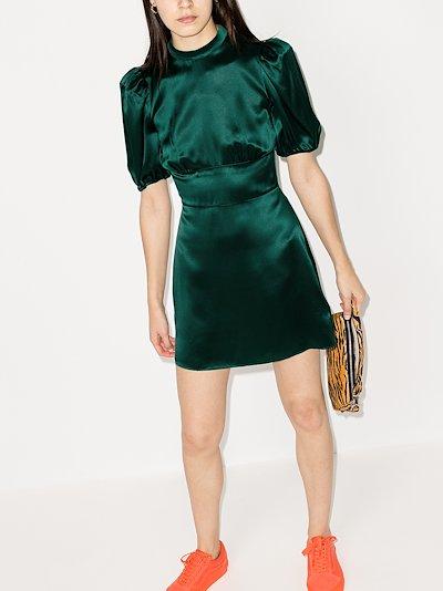 Marsha silk mini dress
