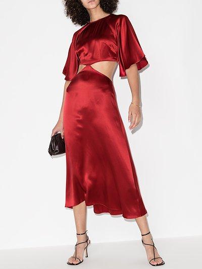 Noemi cutout silk dress