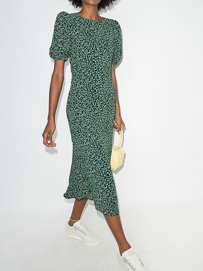 Palmer floral print midi dress