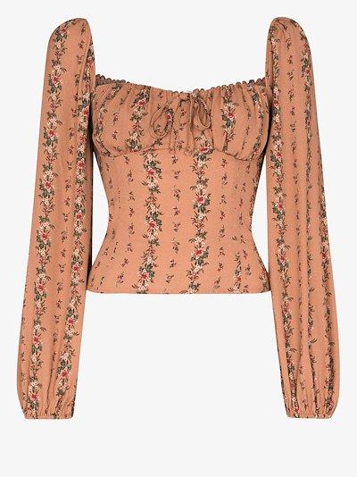 Prince floral print blouse
