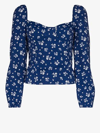 Reign floral print blouse