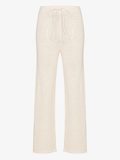 Rosso crochet knit trousers