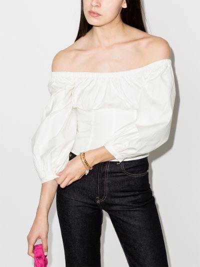 Truffle off-the-shoulder corset top