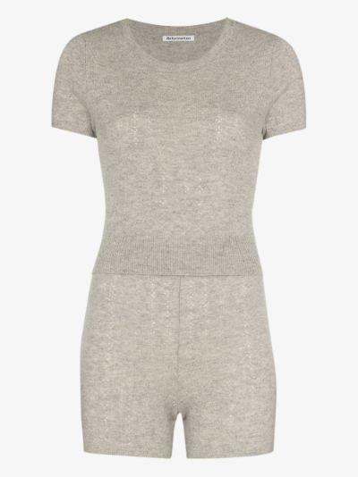 Villa cashmere T-shirt and shorts set