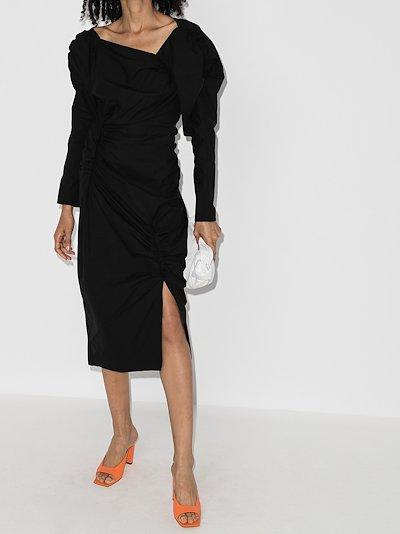 Andi asymmetric neck mini dress