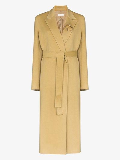 Ava belted wrap coat