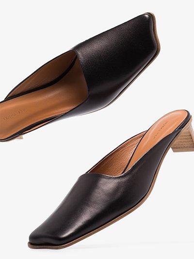 black Leni 40 leather mules