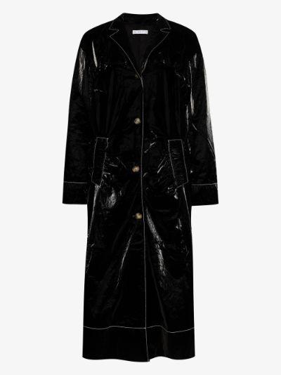 Dylan glossed long coat