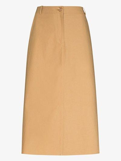 Eunice A-line cotton skirt