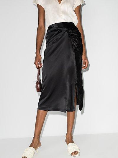 Iris high waist twist midi skirt