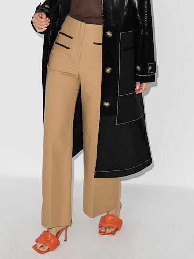 Lexi wide leg cotton trousers