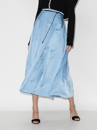 Malia pleated midi skirt