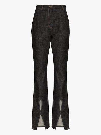 Mattie cutout bootcut jeans