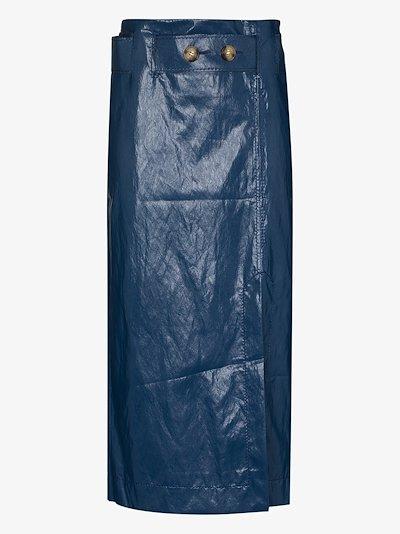mia faux leather pencil skirt