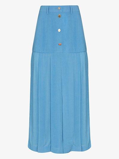 Miller pleated midi skirt