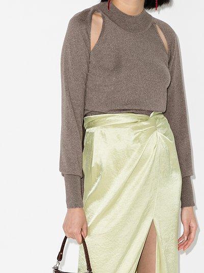 Morgan cutout wool sweater