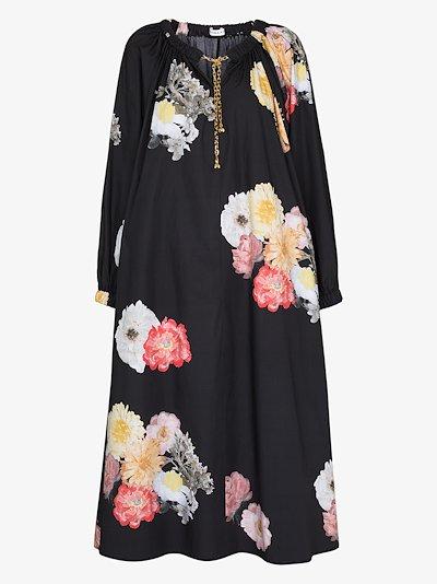 Myra chain neck floral dress