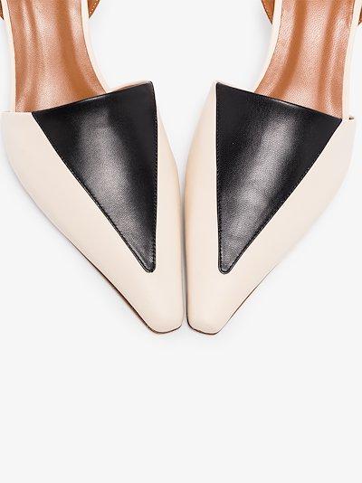 neutral Carina 50 two tone slingback leather pumps